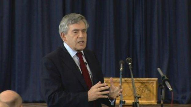 Gordon Brown says his promise of further powers for Scotland will be delivered to the timetable set out ahead of the independence referendum.