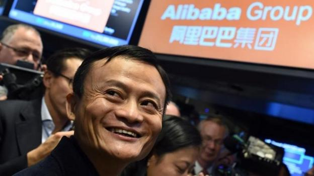 Chinese internet giant Alibaba has raised $25bn in its share flotation, according to US media, making it the largest initial public offering in history.