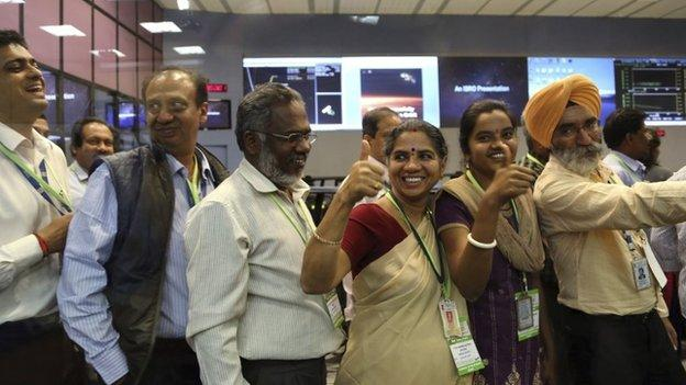 India becomes the fourth nation to put a satellite into orbit around Mars, as Mangalyaan arrives to study the Red Planet's atmosphere.