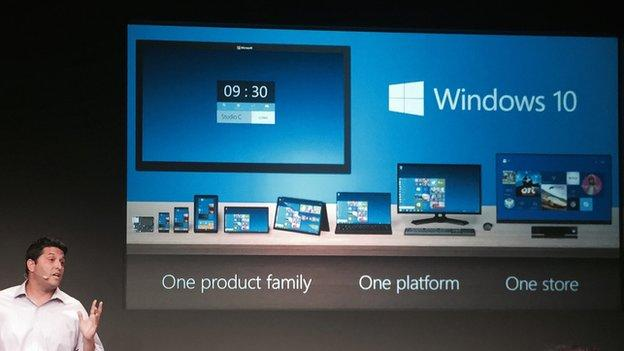 Microsoft announces the next version of its core operating system, called Windows 10, which will reintroduce the Start Menu.