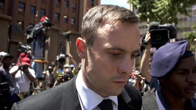 South African athlete Oscar Pistorius is due back in court in Pretoria to hear his sentence for killing girlfriend Reeva Steenkamp.
