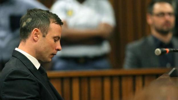 South African athlete Oscar Pistorius is sentenced to five years in jail for killing his girlfriend Reeva Steenkamp.