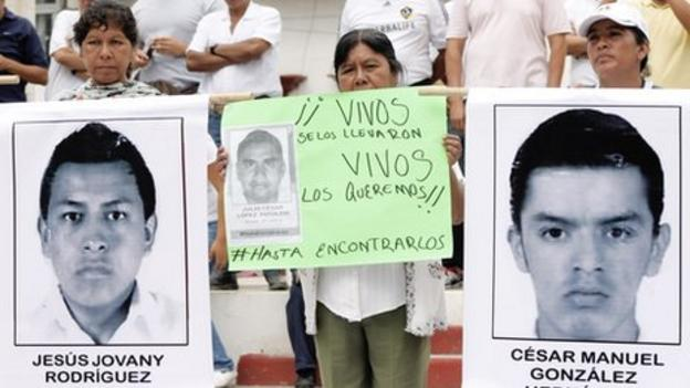 Mexico orders the arrest of the mayor of the southern town of Iguala, where 43 students disappeared after clashing with police last month.