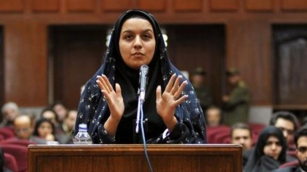 Iran defies an international campaign and hangs a woman who killed a man she said was trying to sexually abuse her.