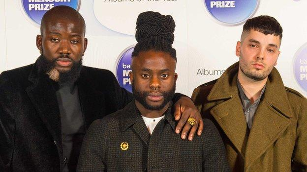Edinburgh-based hip-hop trio Young Fathers win the £20,000 Barclaycard Mercury Prize with their album Dead.