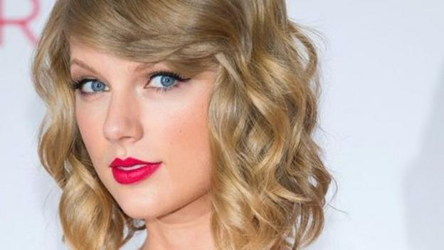 Taylor Swift becomes the first female singer to succeed herself at the top of the US Billboard Hot 100 song chart.