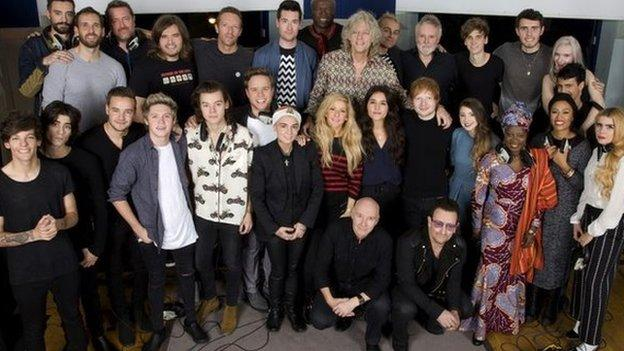 Band Aid 30's Do They Know It's Christmas? debuts at number one in the UK singles chart after selling more than 312,000 copies last week.