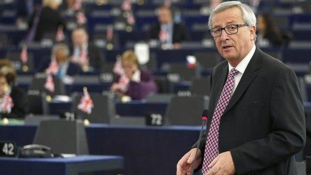 European Commission President Jean-Claude Juncker gives details of a €315bn (£250bn; $393bn) investment plan to kick-start Europe's economy.
