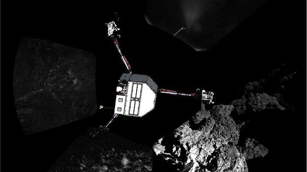 "UK researchers obtain ""rich"" data from the Philae lander just before its power died."