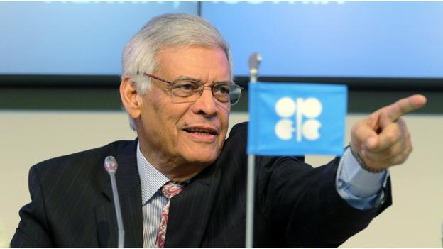 Crude oil prices slump in reaction to the decision by the Opec oil producers' cartel not to cut output.