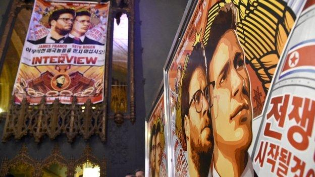 "Hollywood stars say Sony's cancellation of The Interview, a comedy film about a plot to kill North Korea's leader, is a ""victory"" for hackers who threatened cinemas."