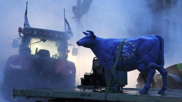 Anti-trade deal protesters vent their anger in Brussels but EU leaders have already gone home.