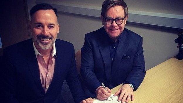 Musician Sir Elton John and his partner David Furnish convert their civil partnership to a marriage, according to a post on the Instagram website.