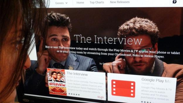 Sony Pictures is distributing its film The Interview online, after a cyber-attack and a row over its release.