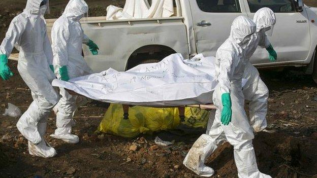 A lockdown is declared in northern Sierra Leone, with shops and travel services shut for at least three days, in a bid to contain the Ebola virus.