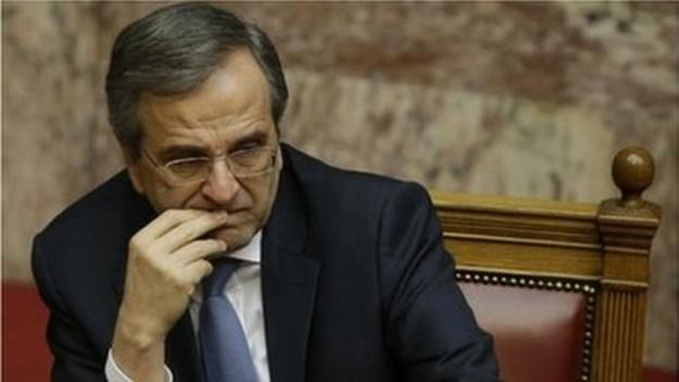 Greek MPs reject a presidential candidate named by Prime Minister Antonis Samaras, triggering a snap general election to be held in January.