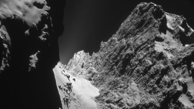 Scientists working on Europe's Rosetta mission say they may have found evidence for how comets are formed.