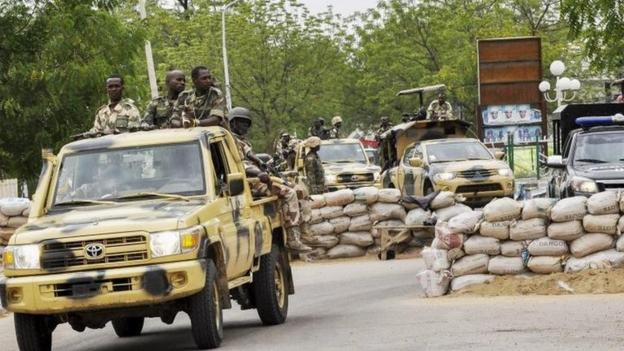 Fighters from the Islamist militant group Boko Haram launch an attack on the key city of Maiduguri in north-eastern Nigeria.