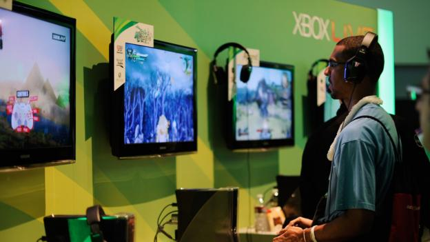 Microsoft reports falling profits but sales were helped by strong Xbox sales over the holiday season.