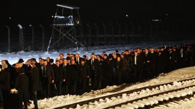 Auschwitz survivors urge the world not to allow a repeat of the crimes of the Holocaust as they mark 70 years since the death camp's liberation.
