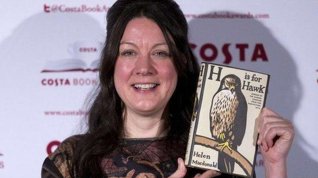 Helen Macdonald wins the Costa Book of the Year Award for 2014 for her personal account of trying to train a goshawk after the death of her father.