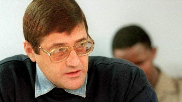 "South African apartheid-era death squad commander Eugene de Kock, nicknamed ""Prime Evil"", gets parole after 20 years for killing activists."