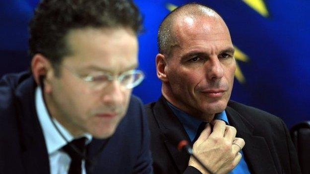 Greece's new finance minister snubs his main eurozone counterpart, saying Athens will not negotiate over debts with the EU-IMF troika.