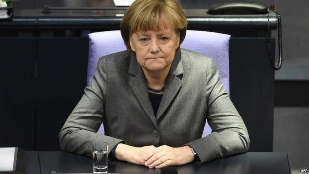 German Chancellor Angela Merkel rejects any cancellation of Greece's debt, saying banks and creditors have already made substantial cuts.