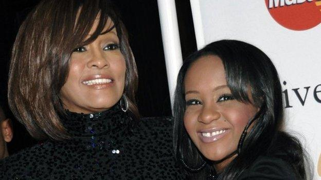 Bobbi Kristina Brown, daughter of late US singer Whitney Houston, is in hospital in an unknown condition after being found unresponsive in a bath.