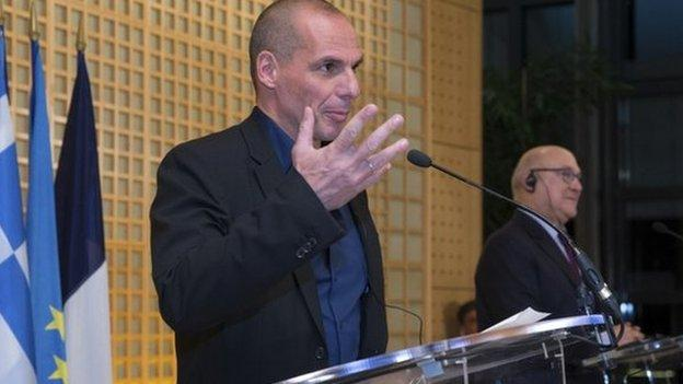 Greek Finance Minister Yanis Varoufakis says his priority is European well-being, after talks in France on the debt issue.