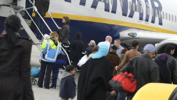 Irish airline Ryanair reports a 66% rise in net profit as falling oil prices and rising passenger numbers give the company a boost.