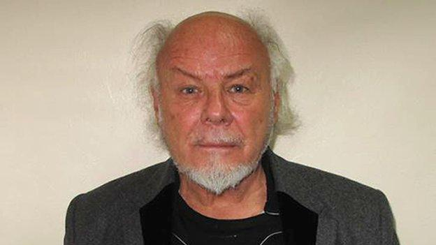 Former pop star Gary Glitter is jailed for 16 years for sexually abusing three young girls between 1975 and 1980.