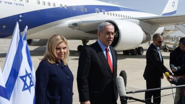 Israeli PM Benjamin Netanyahu arrives in Washington to argue against a nuclear deal with Iran, ahead of a controversial speech to Congress.