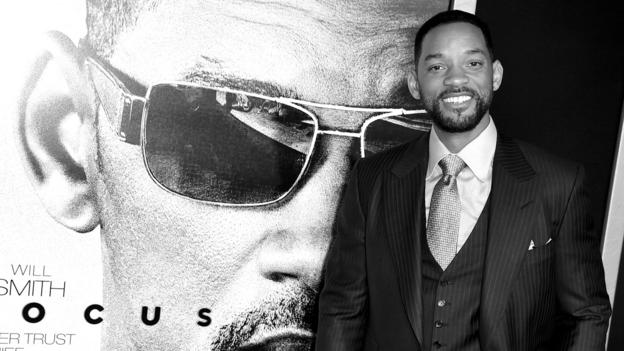 Will Smith's crime caper Focus debuts at number one on the North American box office chart, knocking Fifty Shades of Grey off the top spot.