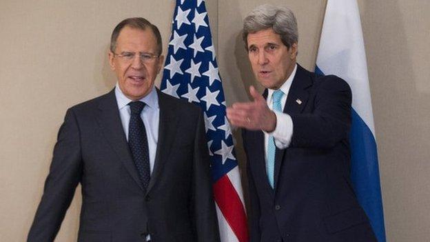 "US Secretary of State John Kerry says the US hopes the Ukraine ceasefire deal will be implemented within ""hours""."