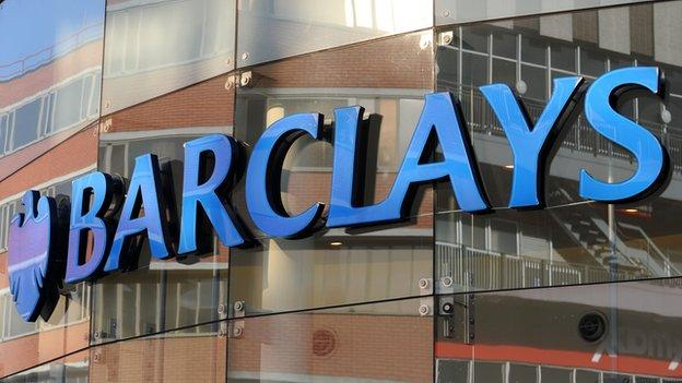 Barclays reports a 12% rise in full-year pre-tax profits, while boss Antony Jenkins receives his first bonus as chief executive.