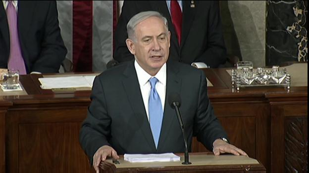 "Israel's Prime Minister says Iran threatens ""the entire world"", as he begins a contentious address to the US Congress."