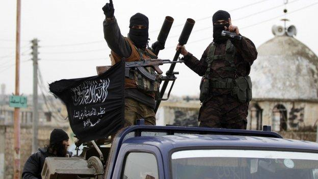 The military commander of Syria's al-Nusra Front militant group, Abu Homam al-Shami, is reportedly killed in an air strike.