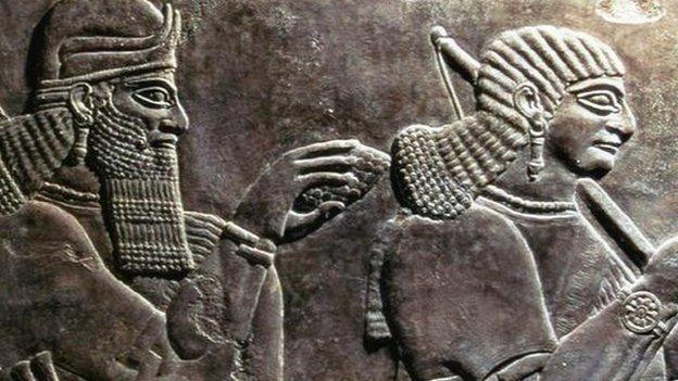 Archaeologists and officials express outrage about the reported bulldozing of the ancient Assyrian city of Nimrud in Iraq by Islamic State (IS) militants.