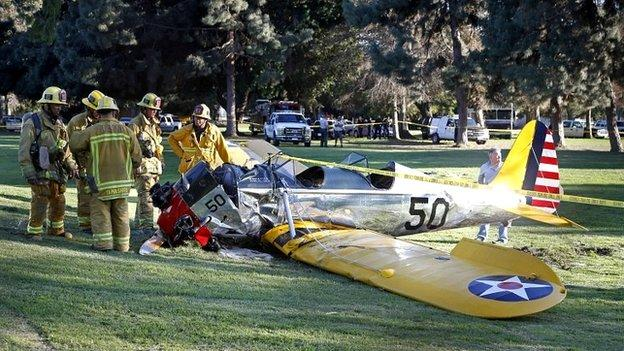 A US doctor describes the rescue of actor Harrison Ford, saying that he feared a fireball from the aircraft's leaking fuel.