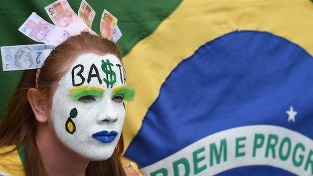 Brazil, the world's seventh largest economy, narrowly avoided contracting in 2014 with a growth rate of just 0.1% for the year.