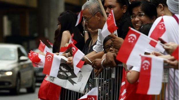 Singapore is preparing to bid farewell to its founding father Lee Kuan Yew, with a funeral procession followed by a state funeral attended by world leaders.