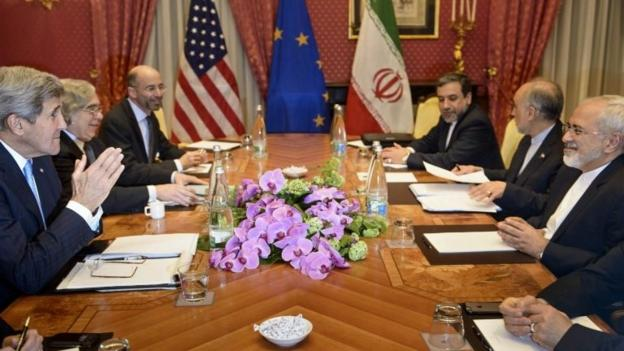Six world powers and Iran intensify talks in Lausanne, as a deadline to reach a deal on Tehran's nuclear programme looms.