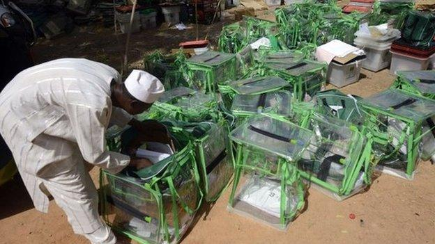 Nigeria's election body is expected to announce the first results of Saturday's keenly contested presidential poll.