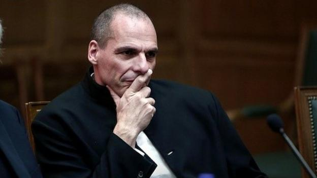 "Greek finance minister Yanis Varoufakis calls for an end to the ""toxic blame game"" between Greece and Germany."
