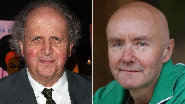 Scottish authors Alexander McCall Smith and Irvine Welsh are among six writers nominated for an award celebrating the year's funniest books.