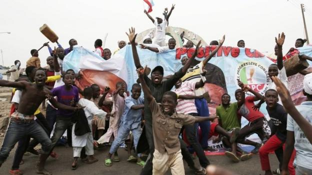 Muhammadu Buhari wins Nigeria's presidential poll, in the country's first ever election victory by the opposition.