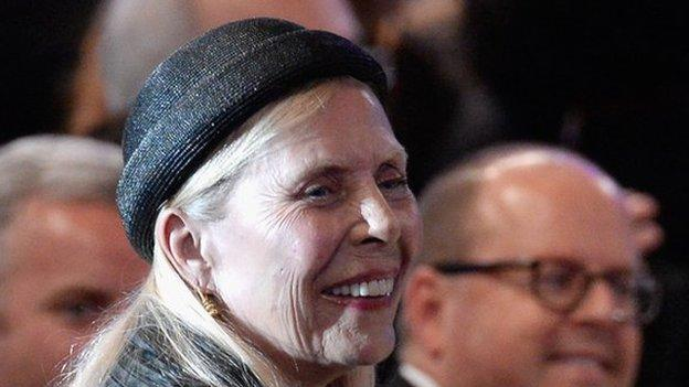 Singer songwriter Joni Mitchell is in intensive care in a Los Angeles hospital after being found unconscious in her home.