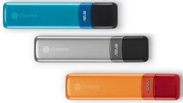 Google announces that a range of computer-on-a-sticks and laptops costing as low as $149 (£101) are joining its range of Chrome OS devices.