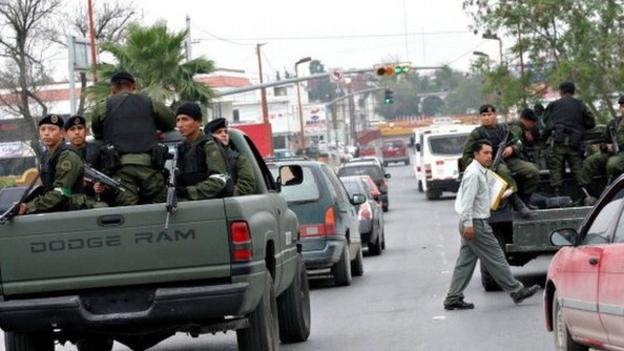 Gun battles lasting several hours break out on the streets of Reynosa, a Mexican border city that has been plagued by drug cartel violence.
